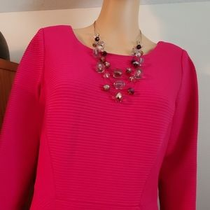 Talbots - Pretty in Pink Dress & Matching Necklace